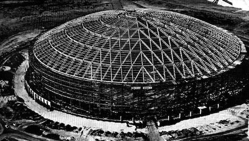 The Astrodome's bones (from the Save the Astrodome facebook page)