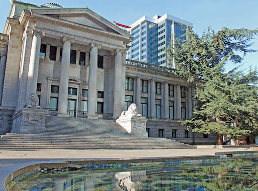 The current Vancouver Art Gallery. Image via focaljourneyphoto.com.