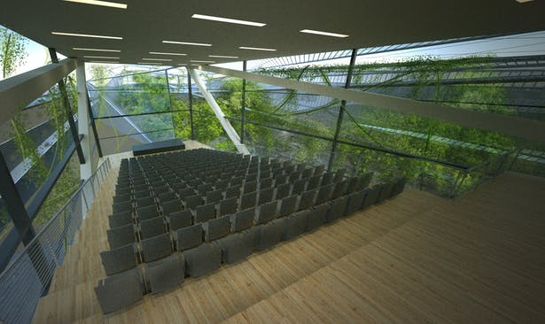 Lecture Hall - Rhino, Maxwell Renderer, Photoshop