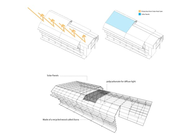 Roof Axon Diagrams and Materials