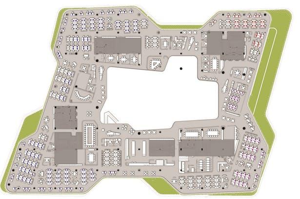 Unilever Headquarters, Jakarta, Indonesia - L5 Floor Plan