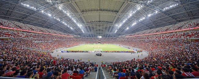 Singapore Sports Hub. Structural designer: Arup. Photo © Darren Soh.