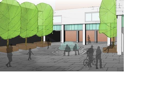 New piazza rendering