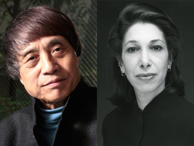 2016 Isamu Noguchi Award recipients: Tadao Ando (Photo: Kinji Kanno) | Elyn Zimmerman (Photo: Timothy Greenfield-Sanders)