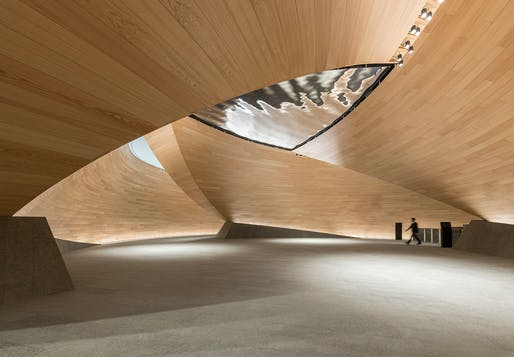 "The ""Vortex"" inside the Bloomberg, London headquarters. Photo: Nigel Young, Foster + Partners."
