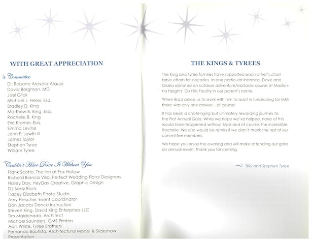 First Annual Gala brochure