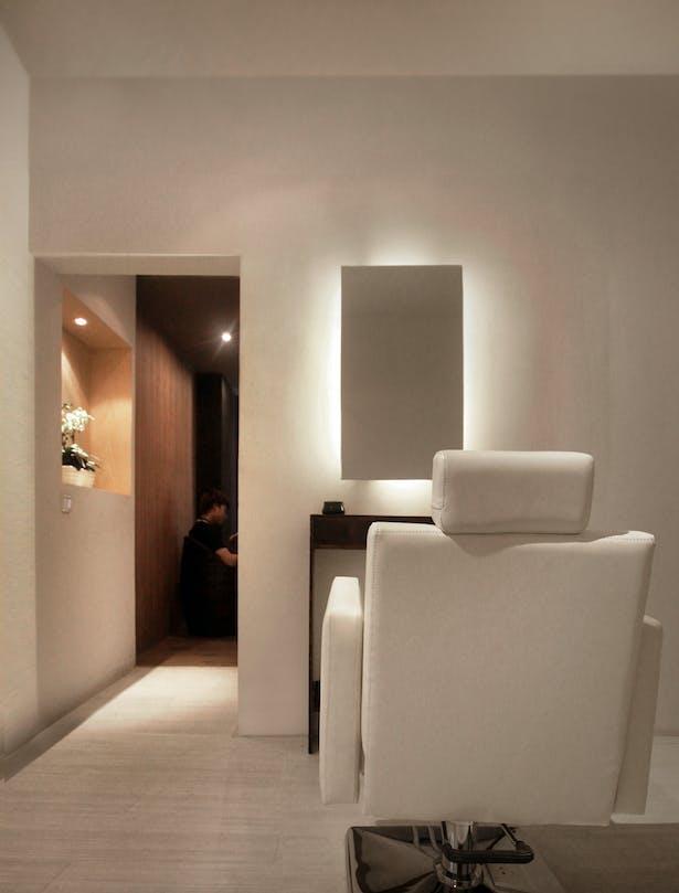 AQSO arquitectos office. W salon. Entrance