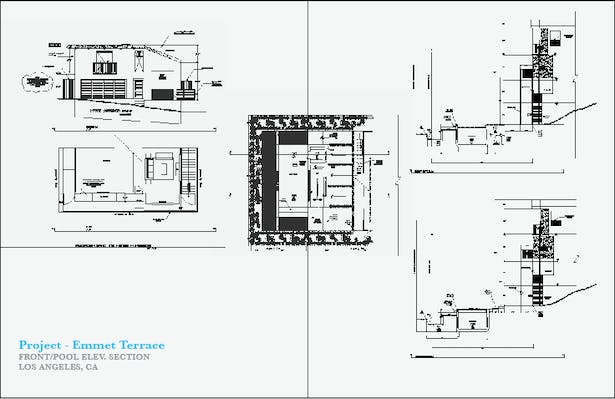 Front/Pool Elevation Section