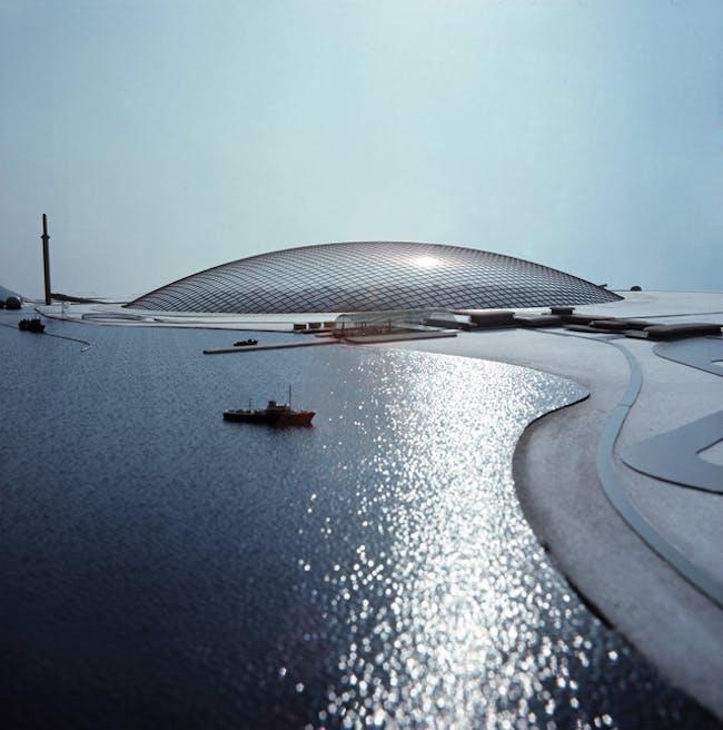 """City in the Arctic"" model, 1971 Photo © Archive Frei Otto"