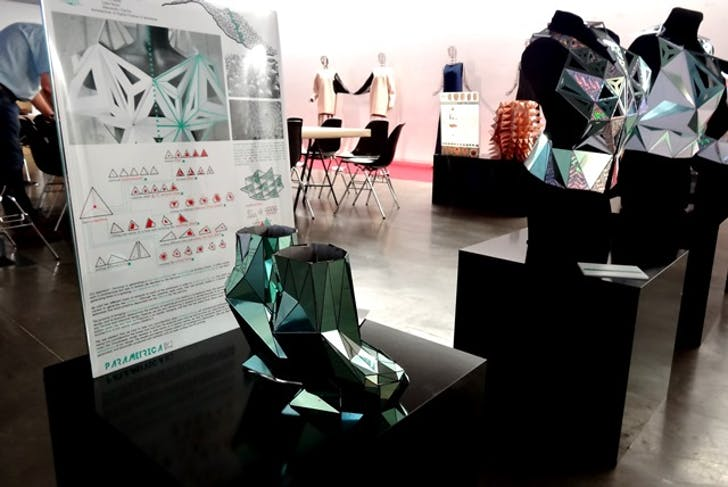 A few of the workshop's 'upgraded' prototypes on display at FAB10 Barcelona. Photo credit: Parametrica [digi fab school].