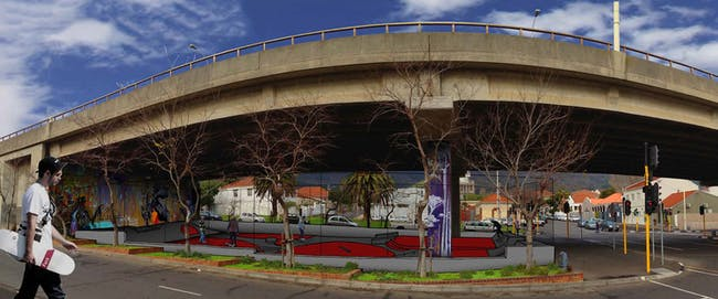 Competition and Professional Winning entry: 'Cape Town Gardens Skate Park'