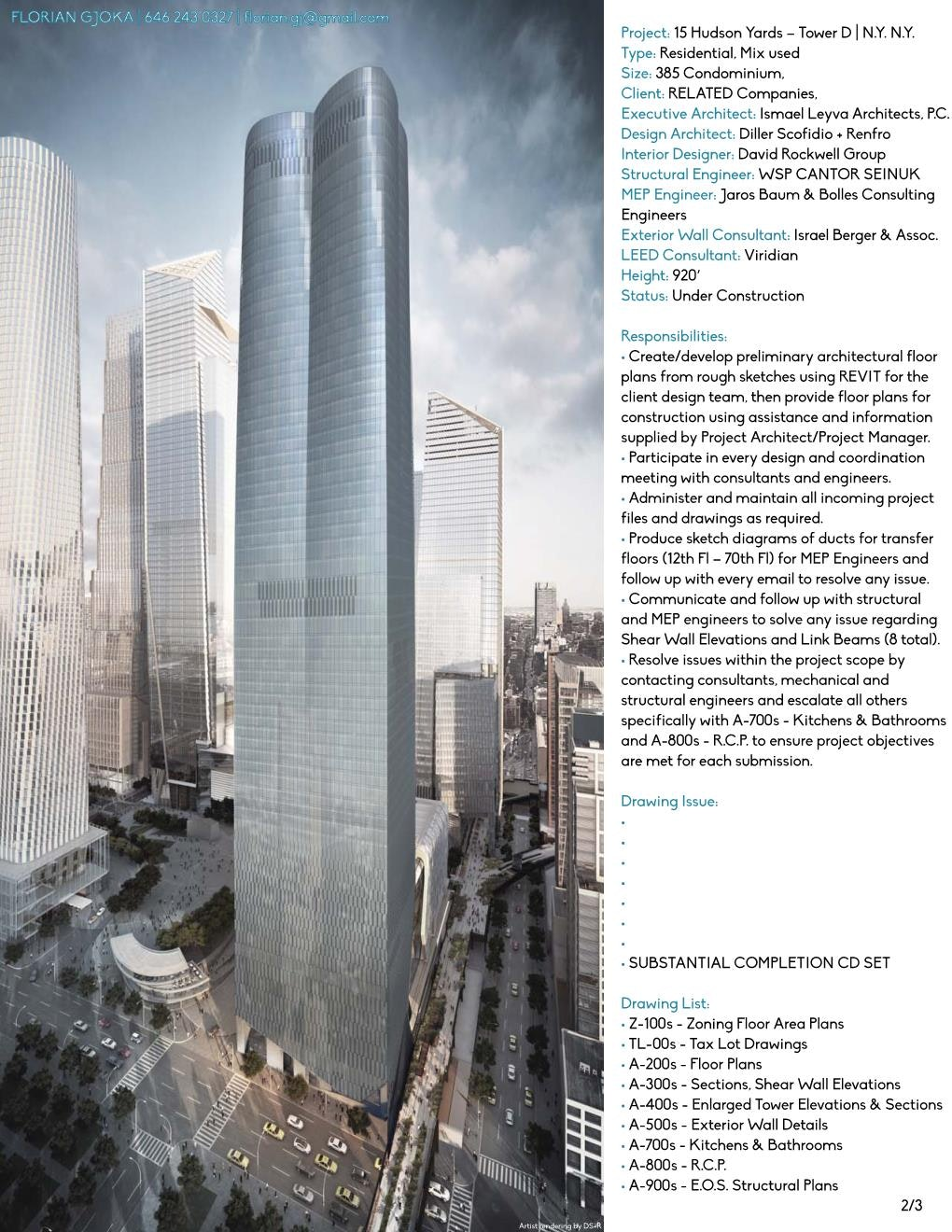 15 Hudson Yards   Tower D