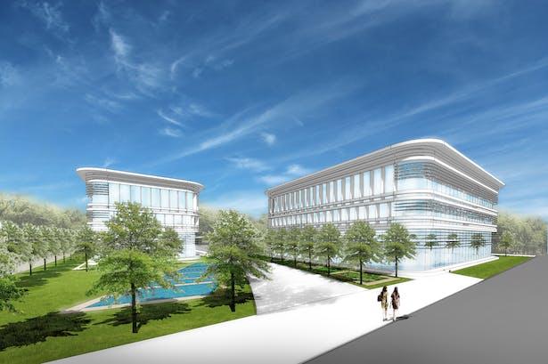Training Center / Ding Shu General Airport, Yixing Dushu, China / Cordogan Clark & Associates with Hanson
