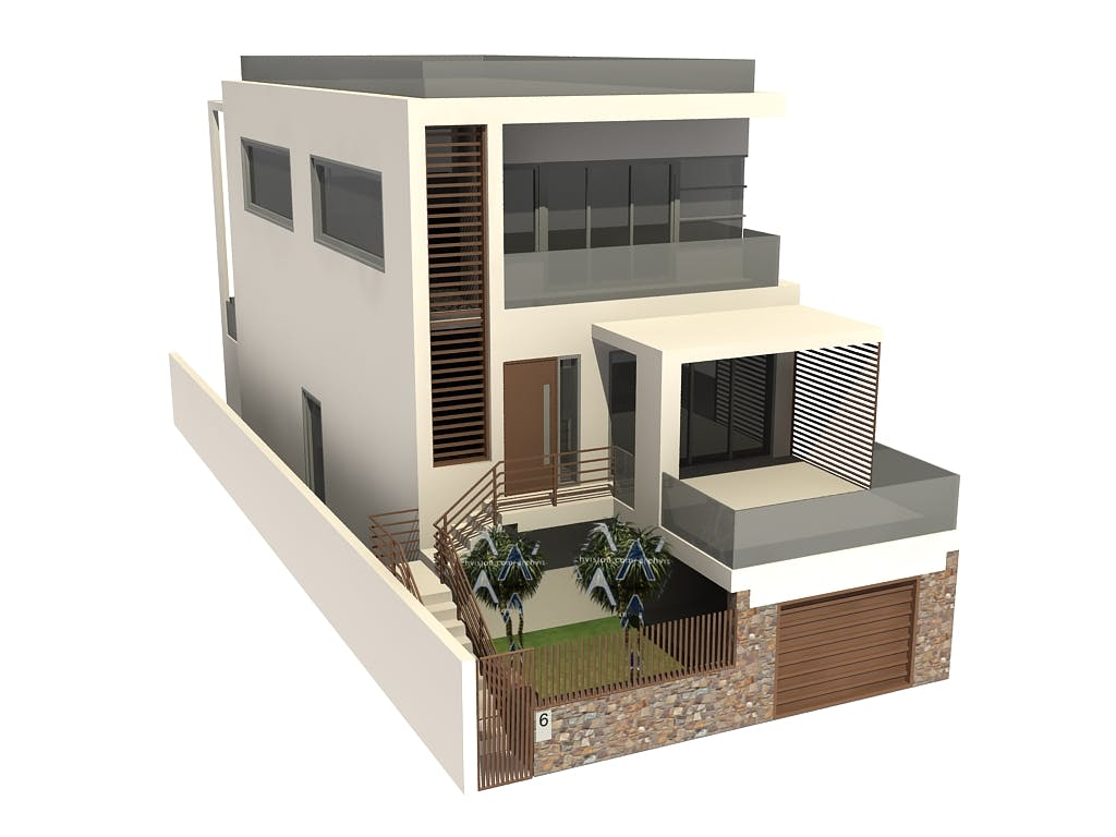 3d Residential House Model Hi Tech Cadd Archinect