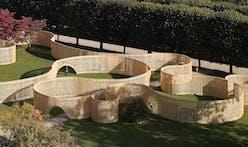 """FABRIC's zoetrope-inspired """"Trylletromler"""" pavilion in King's Garden, Copenhagen"""