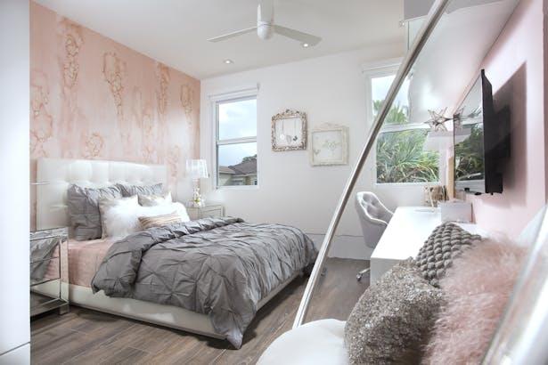 Girls bedroom - Residential Interior Design Project in Aventura, Florida