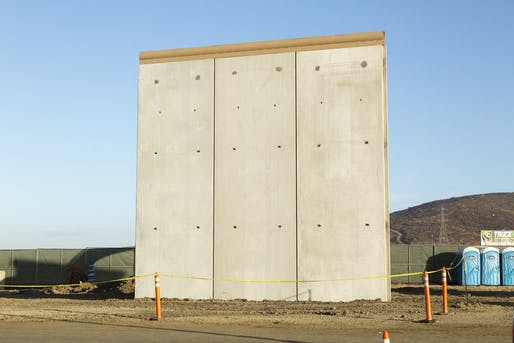 "Hawthorne writes that some of the wall prototypes suggested a ""kind of accidental minimalism, a section of a Peter Zumthor facade after a trip through the federal bureaucracy."" Image: U.S. Customs and Border Protection."