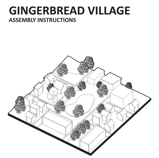 Gingerbread Village drawings by Robert Christo. Image © Robert Christo.