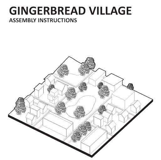 Gingerbread Village drawings by Robert Christo. Image © Robert Christo.