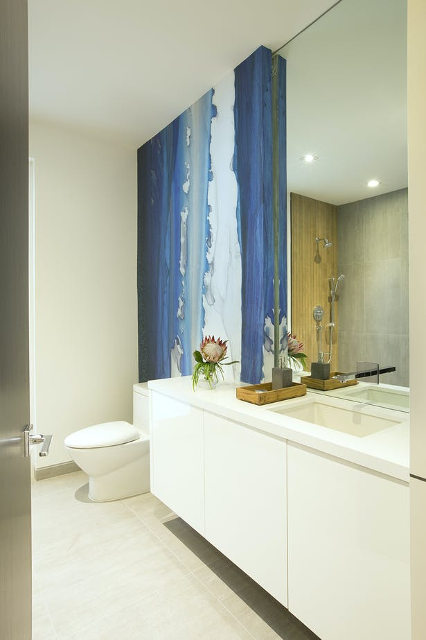 Cabana Bath - Residential Interior Design Project in Aventura, Florida