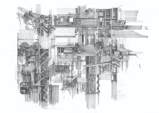 Overall Winner and Hybrid Category Winner: Apartment #5, a Labyrinth and Repository of Spatial Memories, Clement Laurencio, Bartlett School of Architecture, UCL