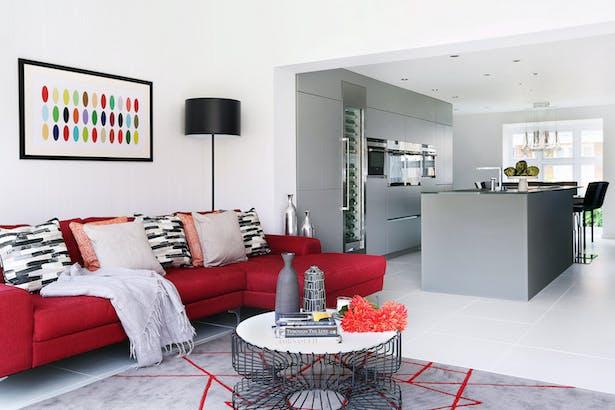 LLI Design - Butterton - Family Living Room Kitchen Overview