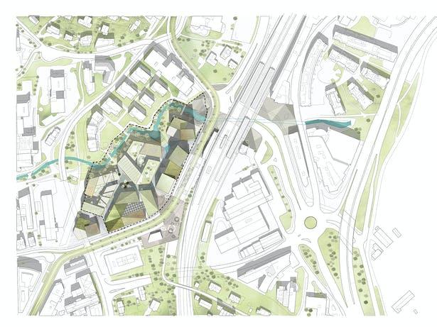 Site Plan_Hoffsveien Skoeyen Oslo Masterplan_schmidt hammer lassen architects