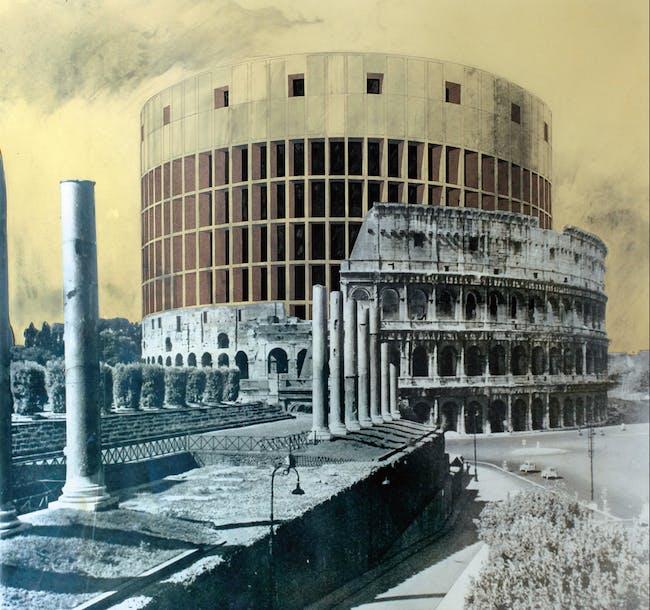 "Superstudio, ""The Continuous Monument (Grand Hotel Colosseo, first version),"" 1969/Courtesy Fondazione Maxxi via the New York Times"