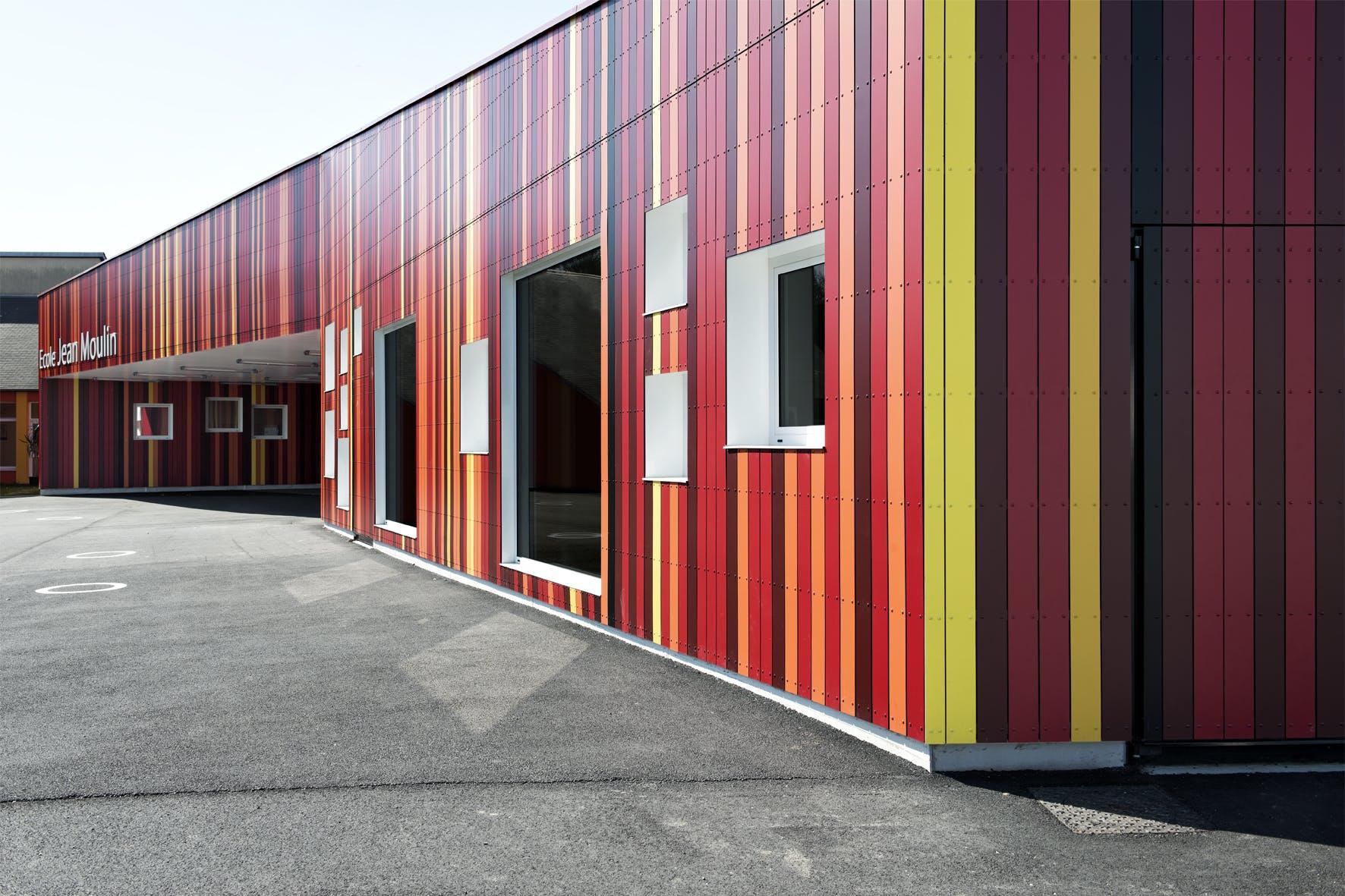 Jean Moulin School Prinvault Architectes Archinect