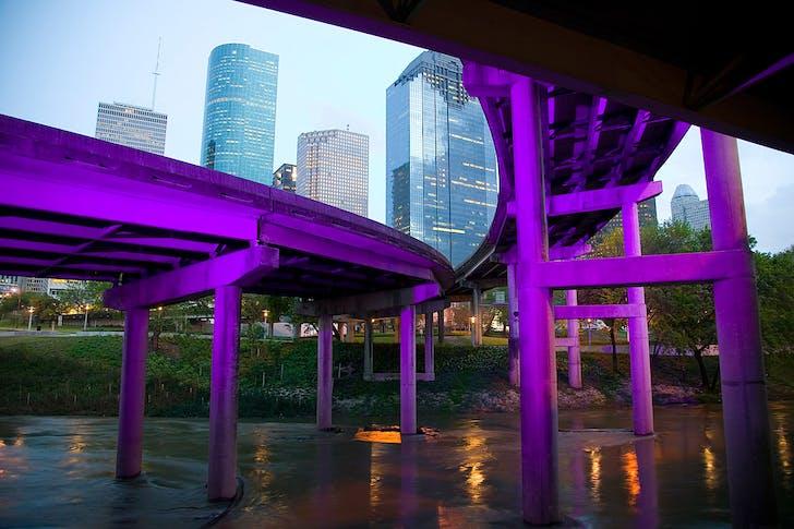 Buffalo Bayou Promenade, Houston, TX; Photographer: Tom Fox