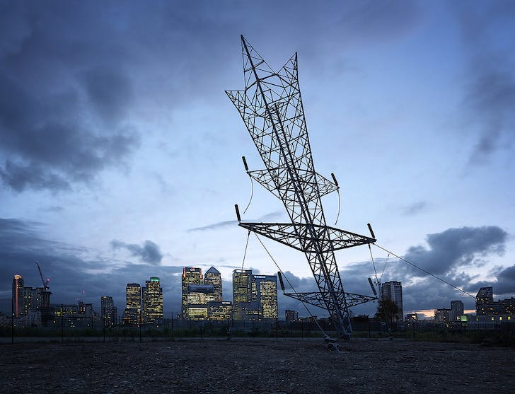 'A Bullet from a Shooting Star' by Alex Chinneck. Image via londondesignfestival.com.