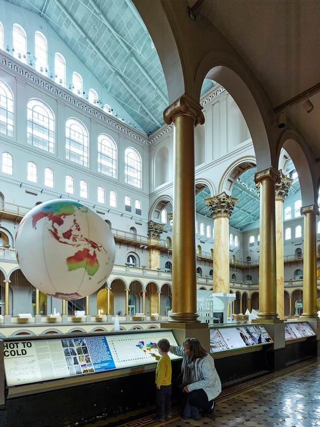 BIG's 'Hot to Cold' at the National Building Museum. Image courtesy of BIG.