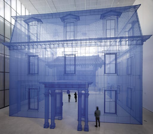 Do Ho Suh, Home within Home within Home within Home within Home, 2013. 1530 x 1283 x 1297 cm Polyester fabric, metal frame. Site-specific commissioned artwork for Hanjin Shipping Box Project, MMCA (National Museum of Modern and Contemporary Art), Seoul, 13 November 2013 – 11 May 2014. © Do Ho...