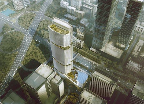 Gmond International Building, Shenzhen, China by Aedas