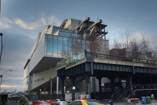 The building's eastern face is adjacent to the High Line. Credit: Ed Lederman via the Whitney Museum of American Art