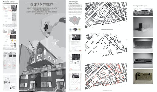 The Bronze Medal winner (for best Part 1 design project): Kangli Zheng (University of Nottingham), tutored by Alison Davies, Project: 'Castle in the Sky'