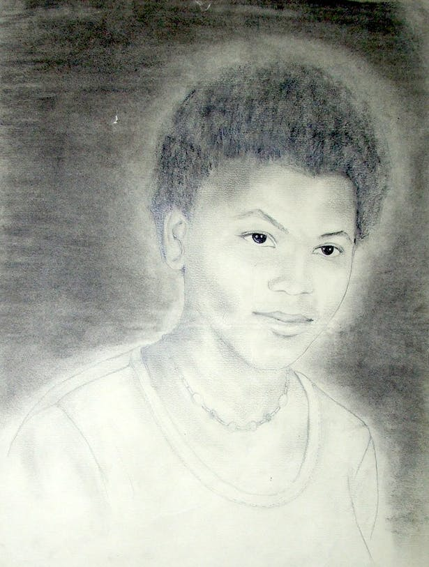 A portrait of a lady I made when I was 17 years old.