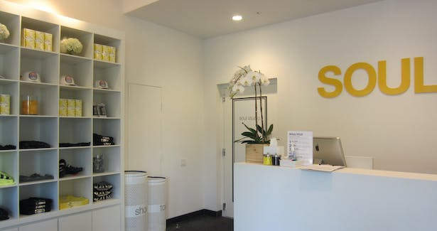 custom retail display unit and solid surface reception desk