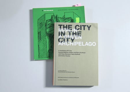 Lotus International No. 19, June 1978, and The City in the City—Berlin: A Green Archipelago, 2013. Image © Karen Lohrmann, 2014