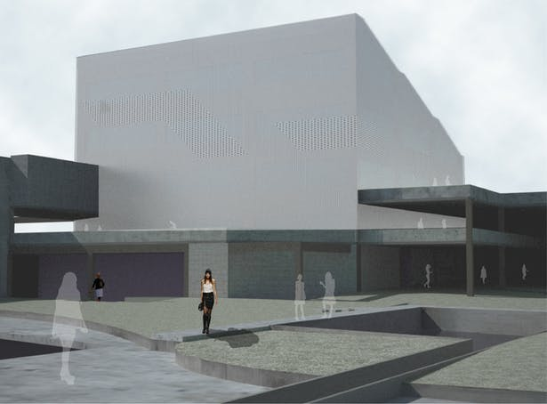 Atrium/Theater Perspective