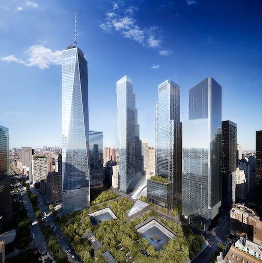 BIG's renderings of the new Two World Trade Center (via WIRED Magazine)