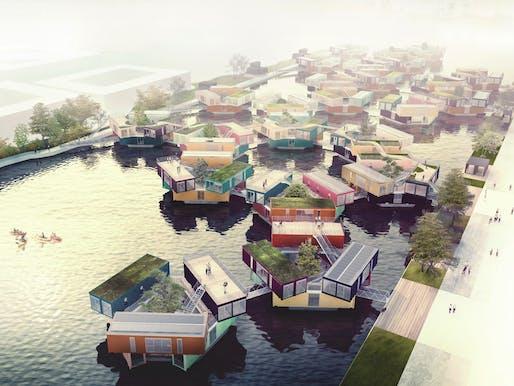 Urban Rigger designed by BIG. Photo courtesy of the Buckminster Fuller Institute.
