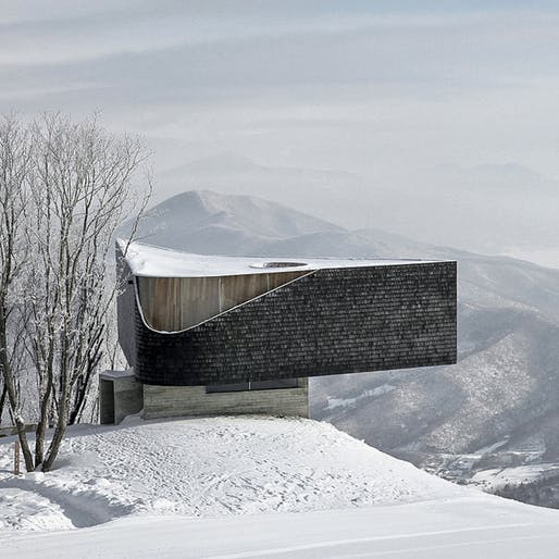 Songhua Lake Resort Lookout in Ji Lin, China by META-Project. Photo: Su Shengliang.