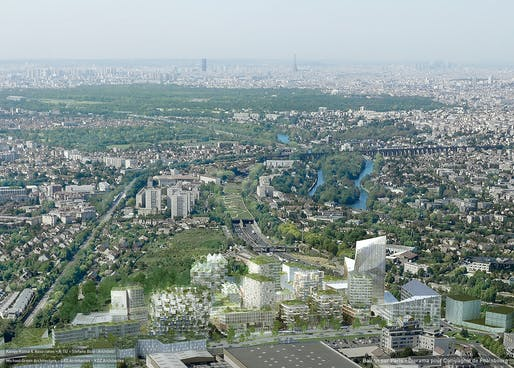 BALCON SUR PARIS by Kengo Kuma & Associates, OXO Architectes, XTU Architects, Stefano Boeri Architetti, Michael Green Architecture, Koz Architectes