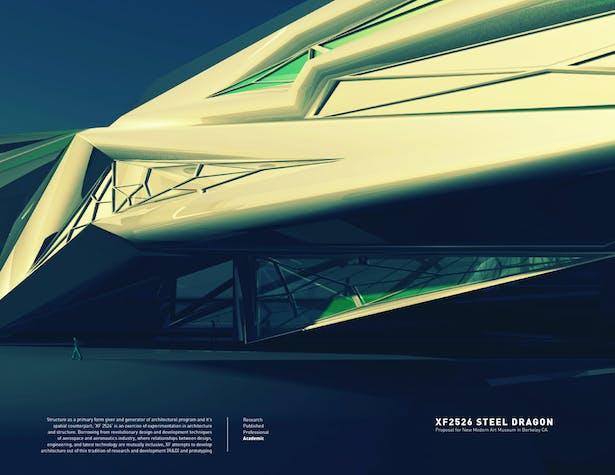 XF 2526 Steel Dragon / Proposal for New Berkeley Modern Art Museum