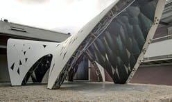 "A closer look at AR-MA's ""Trifolium"" digital pre-fab pavilion in Sydney"
