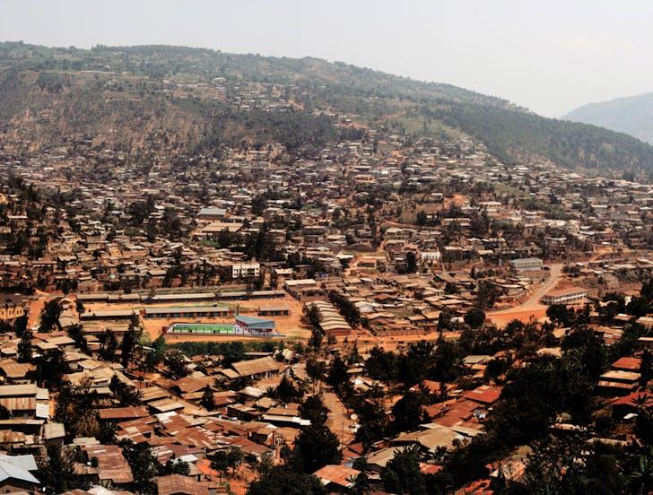 Football for Hope Centre in context , Kimisgara, Rwanda. Courtesy of Killian Doherty