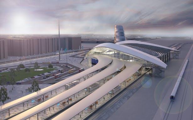 2704a81b355e6 Astana Main Railway Station   Andrej Serafin   Archinect
