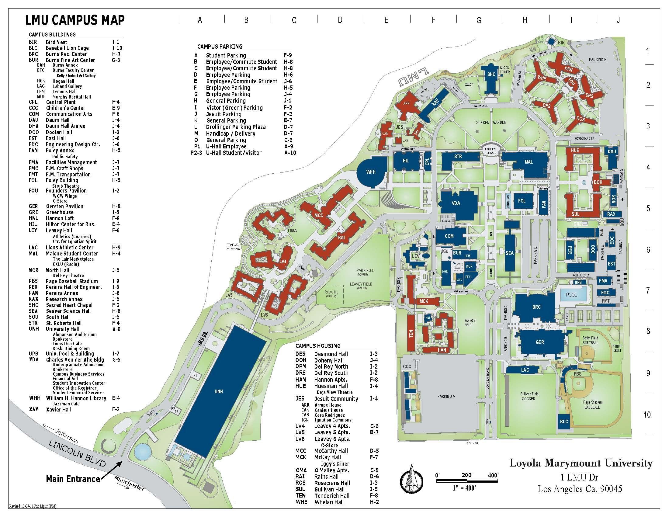 LMU Campus Map | Raymond Mongi | Archinect