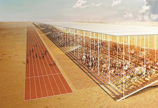 Detail from First Prize Winner 'Athletic Horizon' by Seondong Kim, Jongwoo Jun and Kwangyeon Cho